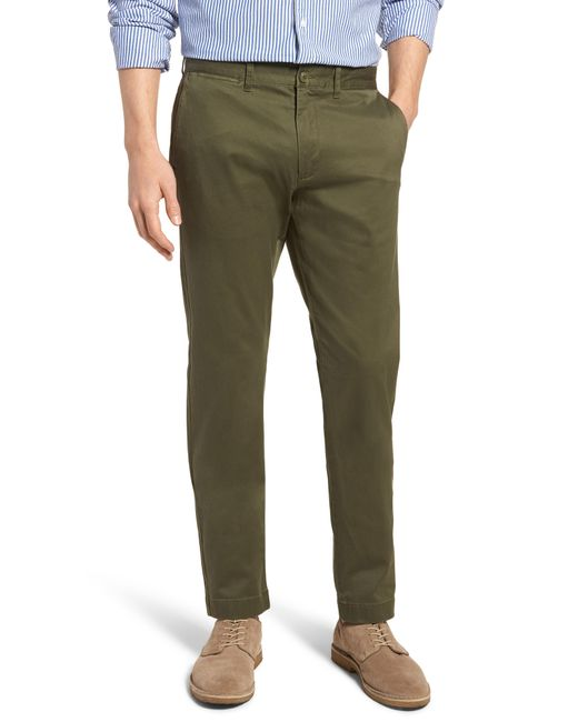 J.Crew - Green 484 Slim Fit Stretch Chino Pants for Men - Lyst
