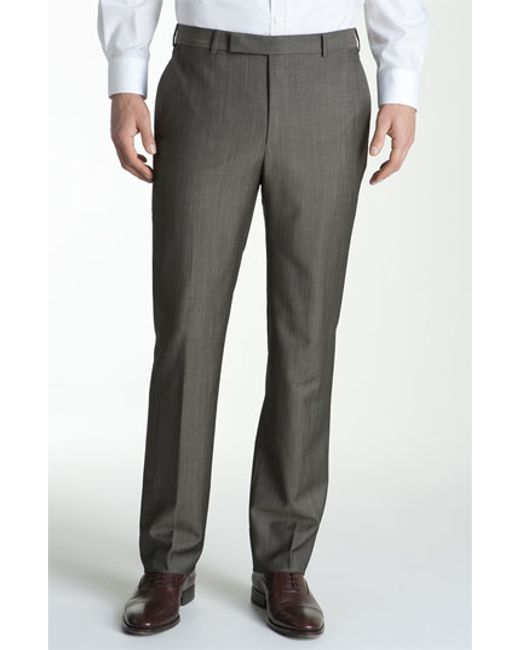 Z Zegna | Brown Flat Front Trousers for Men | Lyst