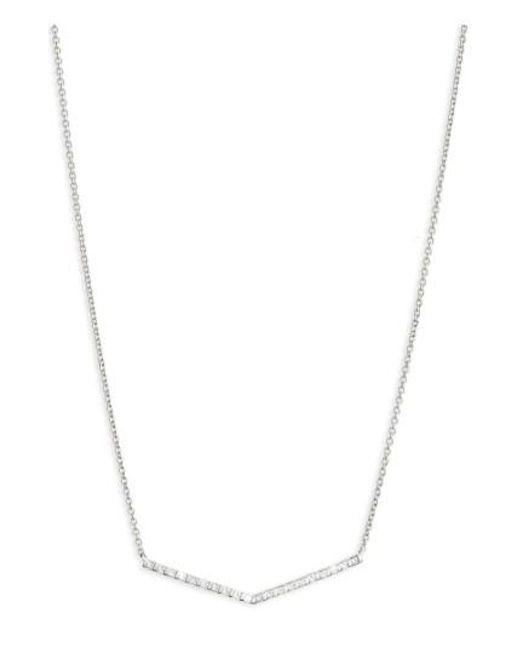 Bony Levy   Metallic Geo Diamond Pendant Necklace (nordstrom Exclusive)   Lyst