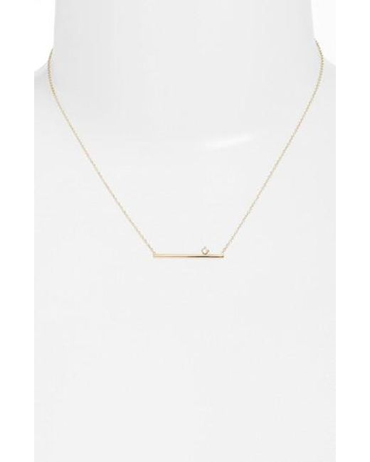 Zoe Chicco | Metallic Floating Diamond Pendant Necklace | Lyst