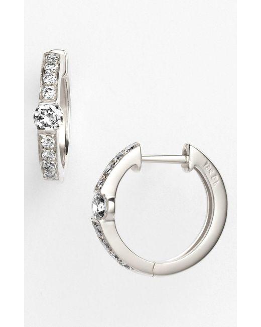Bony Levy - Metallic Linea Diamond Huggie Earrings (nordstrom Exclusive) - Lyst