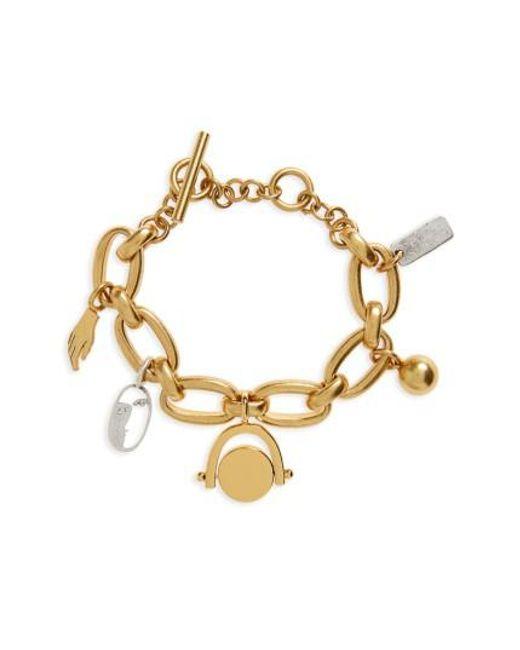 Madewell   Metallic Chunky Charm Bracelet   Lyst