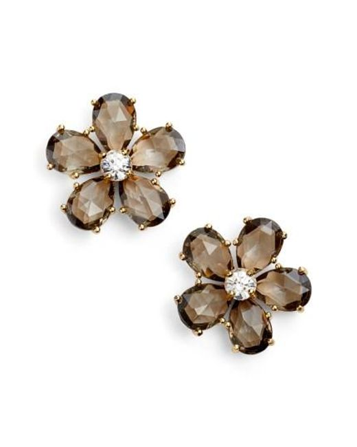 Kate Spade | Metallic In Full Bloom Statement Stud Earrings | Lyst