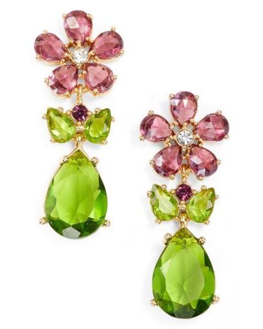 Kate Spade | Multicolor In Full Bloom Cluster Drop Earrings | Lyst