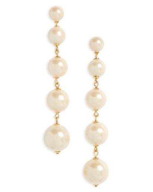 Kate Spade | Multicolor Girls In Pearls Linear Earrings | Lyst