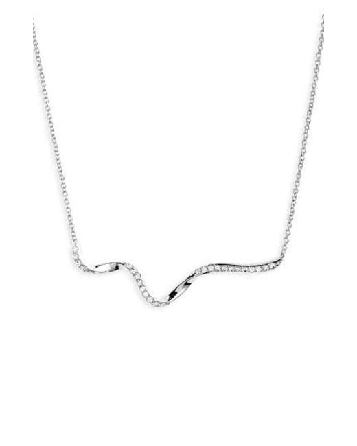 Nadri   Metallic Citron Frontal Necklace   Lyst