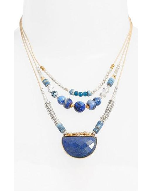 Nakamol | Blue Multilayered Necklace | Lyst