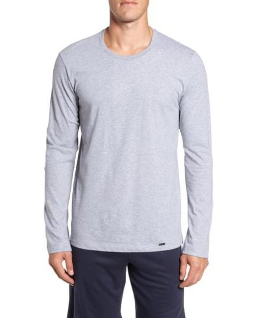 Hanro | Gray Living Long Sleeve T-shirt for Men | Lyst