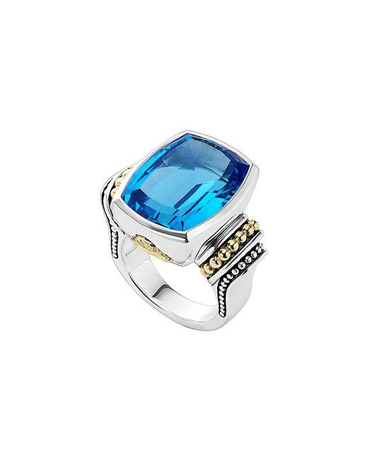 Lagos - Blue 'caviar Color' Large Semiprecious Stone Ring - Lyst