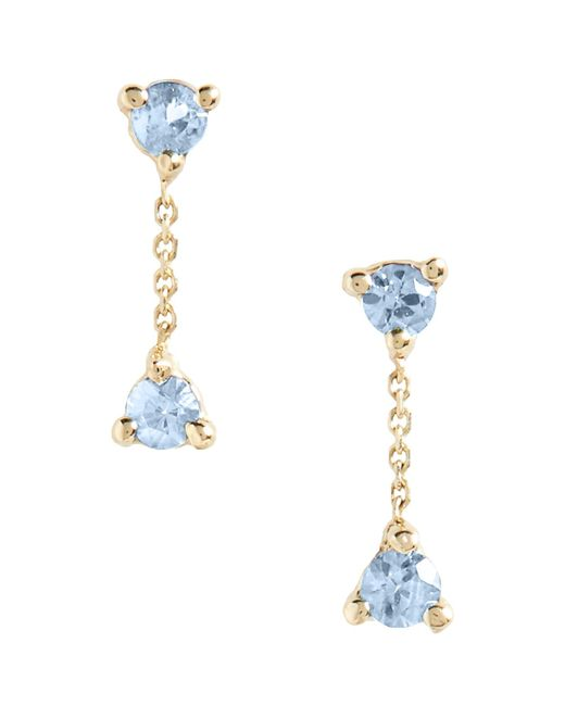 Wwake - Metallic Counting Collection Small Two-step Sapphire Drop Earrings - Lyst
