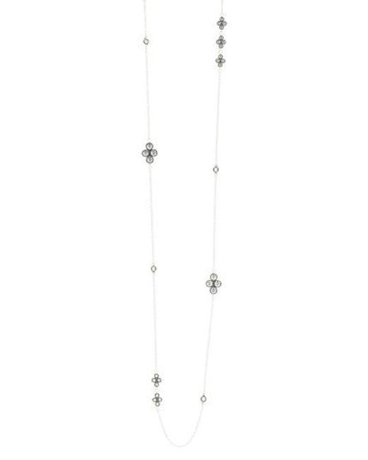 Freida Rothman | Metallic Industrial Finish Long Station Necklace | Lyst