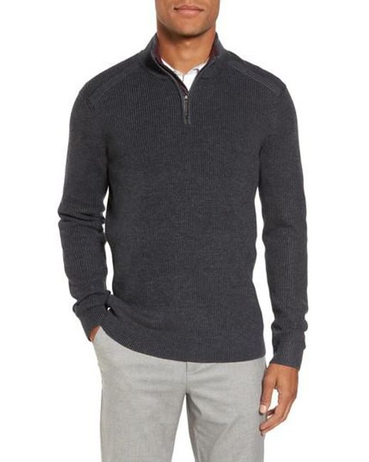 Ted Baker | Gray Stach Quarter Zip Sweater for Men | Lyst
