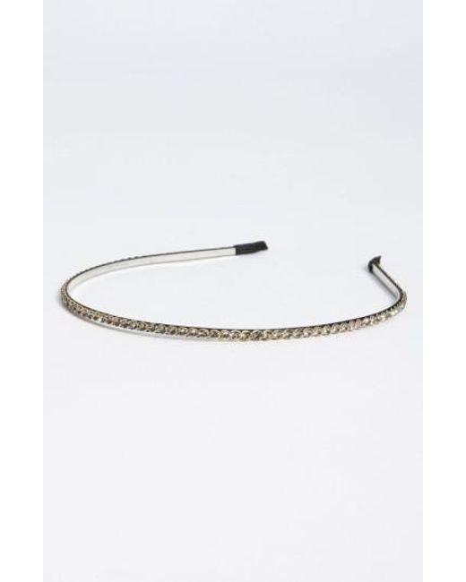 Cara   Gray Skinny Crystal Headband   Lyst