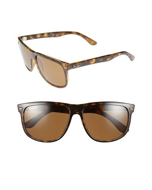 Ray-Ban | 'boyfriend' 60mm Polarized Sunglasses - Light Havana/ Brown P for Men | Lyst