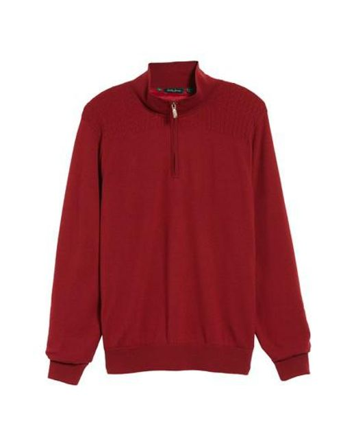 Bobby Jones | Red Cable Wind Wool Sweater for Men | Lyst