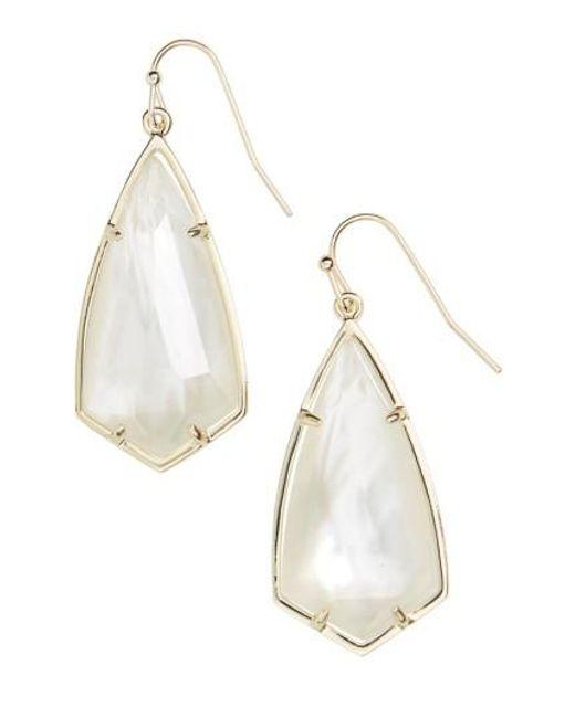 Kendra Scott   White Carla Semiprecious Stone Drop Earrings   Lyst