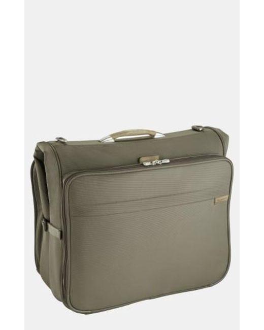Briggs & Riley | Green 'baseline - Deluxe' Garment Bag for Men | Lyst