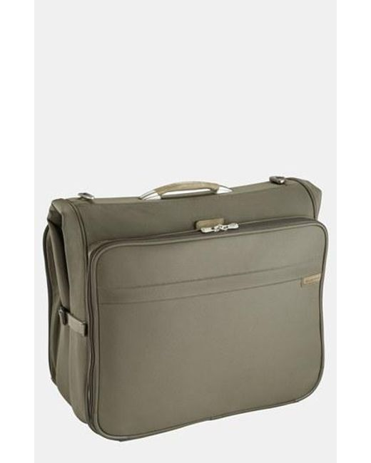 Briggs & Riley | Green 'baseline - Deluxe' Garment Bag for Men | Lyst