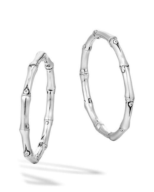 John Hardy | Metallic 'bamboo' Medium Hoop Earrings | Lyst