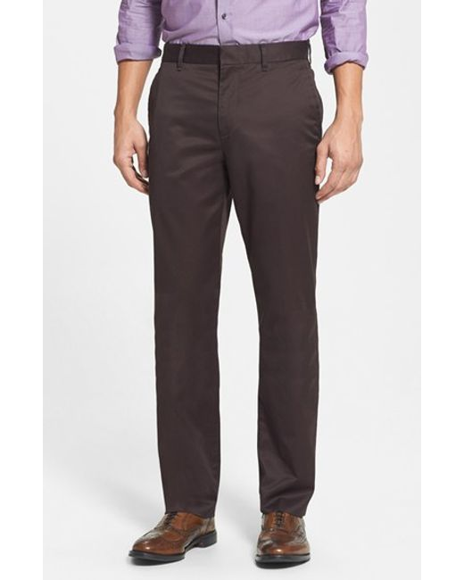 Bonobos | Brown 'weekday Warriors' Non-iron Straight Leg Cotton Pants for Men | Lyst
