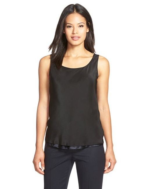 Lafayette 148 New York | Multicolor Reversible Refined Silk Charmeuse Tank | Lyst
