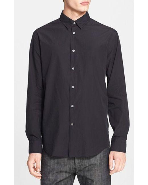 John Varvatos | Black Extra Trim Fit Sport Shirt for Men | Lyst