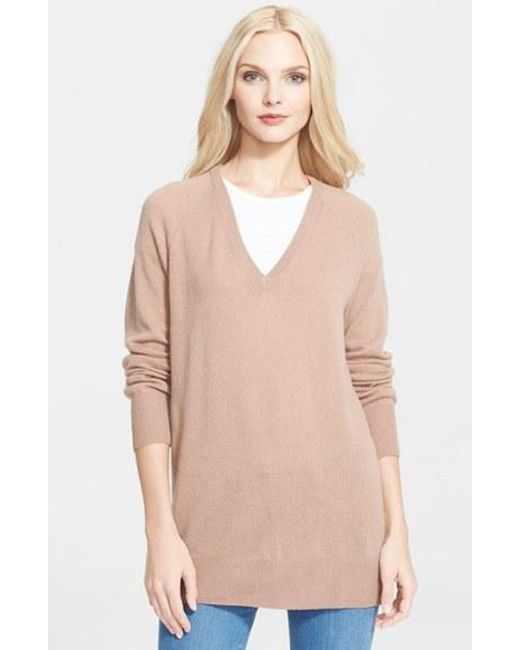 Equipment | Brown 'asher' V-neck Cashmere Sweater | Lyst