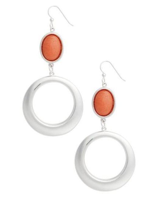 Simon Sebbag | Multicolor Semiprecious Stone Hoop Drop Earrings | Lyst