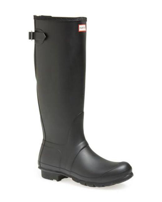 Hunter   Black Adjustable Calf Rain Boot   Lyst