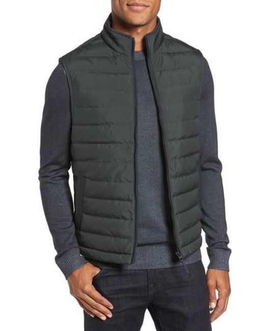 Ted Baker | Green Jozeph Quilted Down Vest for Men | Lyst