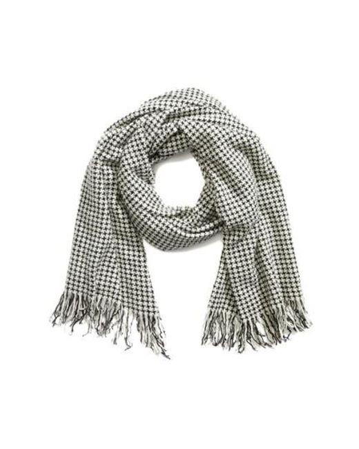 Rag & Bone | Blue Herringbone Wool Scarf | Lyst