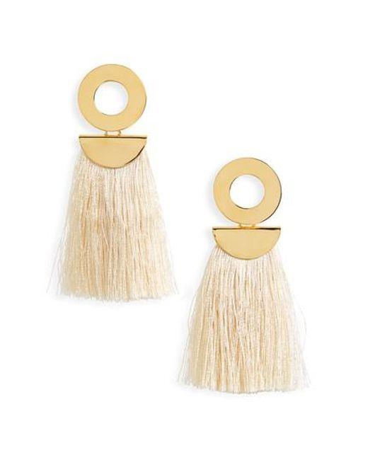 Lizzie Fortunato Go-Go crater tassel earrings DjJ4dBSK