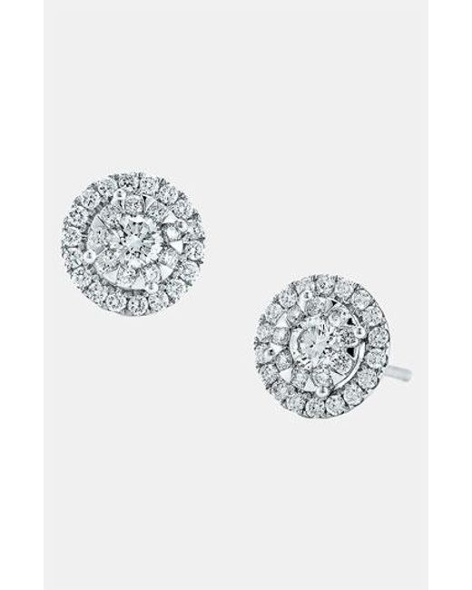 Kwiat | White 'sunburst' Diamond Stud Earrings | Lyst