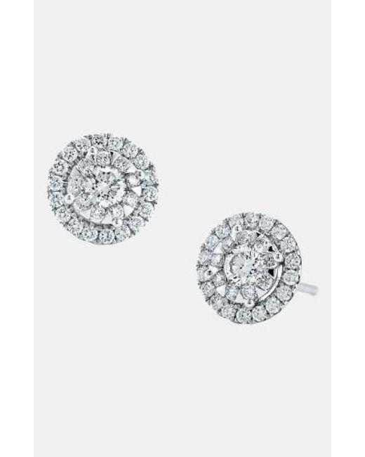 Kwiat   White 'sunburst' Diamond Stud Earrings   Lyst