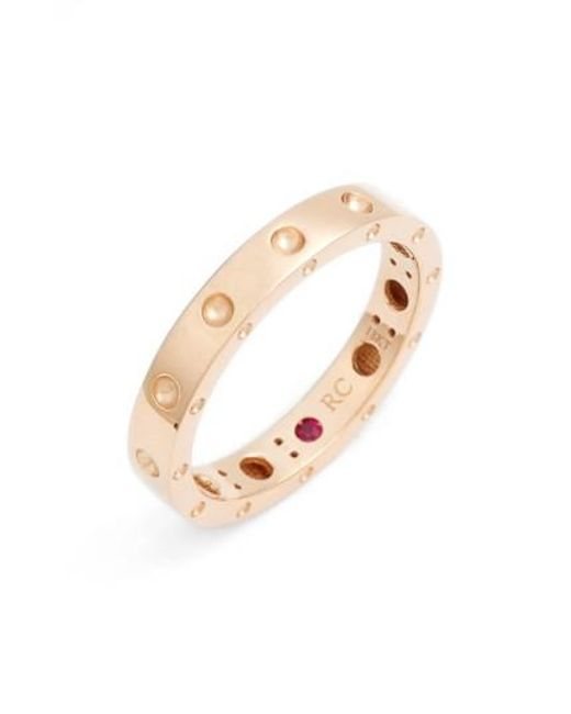 Roberto Coin - Metallic 'symphony - Pois Moi' Ruby Band Ring - Lyst