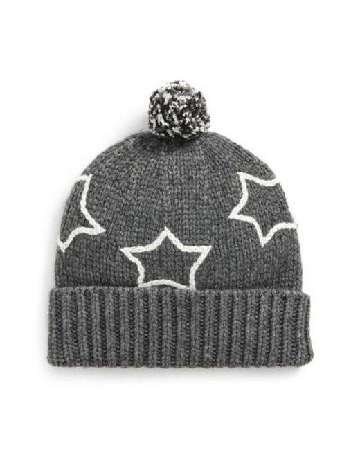 Madewell | Gray Starry Pompom Beanie | Lyst