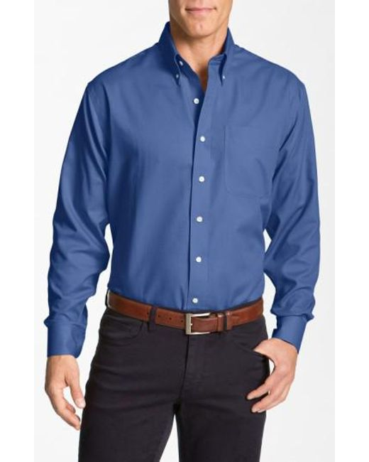 Cutter & Buck | Blue 'nailshead - Epic Easy Care' Classic Fit Sport Shirt for Men | Lyst