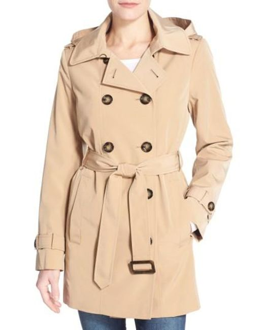 Calvin Klein   Red Double Breasted Trench Coat   Lyst