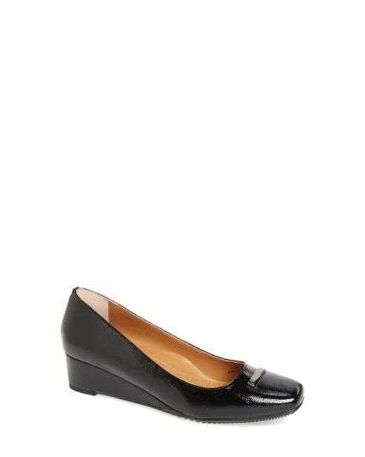 J. Reneé - Black Yarall Square Toe Wedge Pump - Lyst