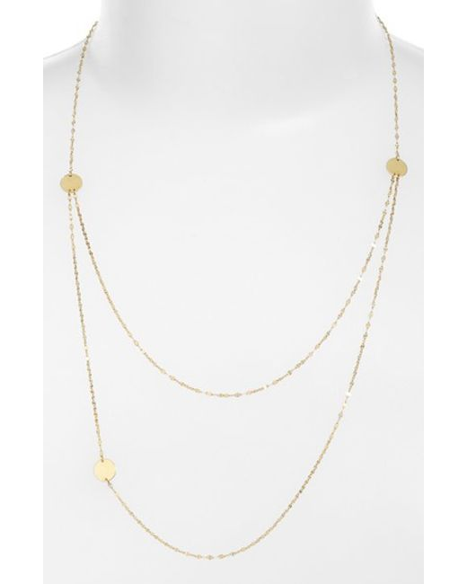 Lana Jewelry | Yellow Tri Disc Necklace | Lyst