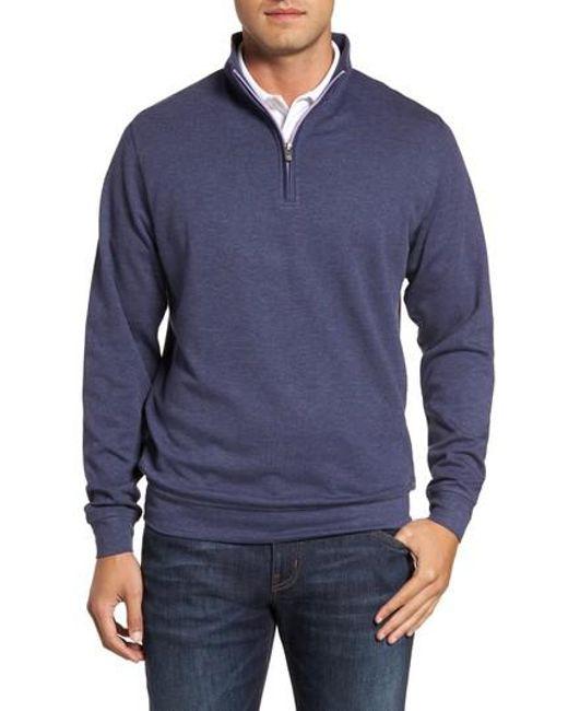 Peter Millar - Multicolor Crown Comfort Jersey Quarter Zip Pullover for Men - Lyst