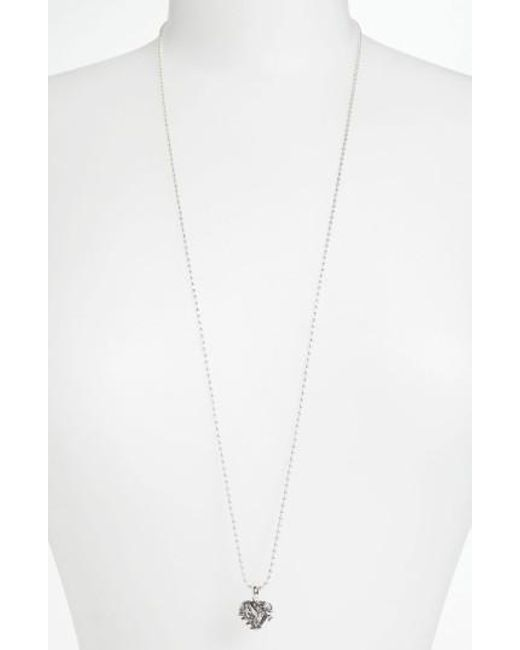 Lagos - Metallic 'hearts Of - Chicago' Long Pendant Necklace (online Only) - Lyst