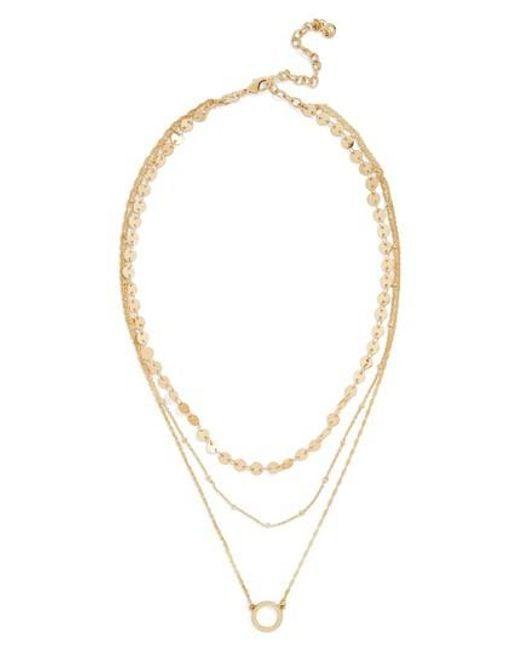BaubleBar - Metallic Adrielle Triple Strand Necklace - Lyst