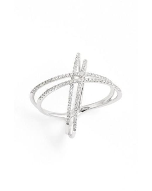 Bony Levy - Metallic Double X Crossover Diamond Ring (nordstrom Exclusive) - Lyst