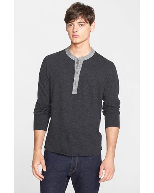 Todd Snyder | Black Classic Henley for Men | Lyst