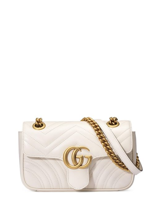 7e344fcff36 Lyst - Gucci GG Marmont Small Matelassé Shoulder Bag in Red - Save 10%