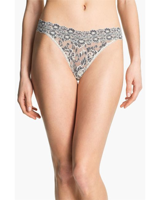 Hanky Panky | White Cross Dyed Regular Rise Thong | Lyst
