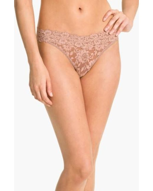 Hanky Panky | Brown Cross Dyed Regular Rise Thong | Lyst