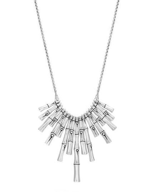 John Hardy - Metallic Bamboo Bib Necklace - Lyst