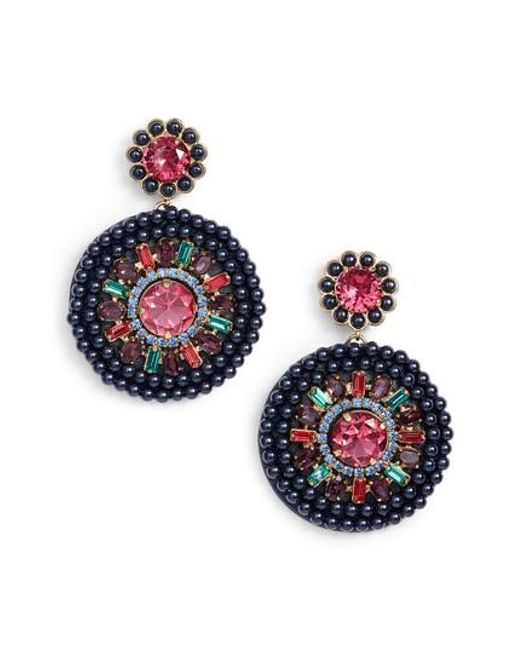 Kate Spade | Multicolor Luminous Leather Statement Earrings | Lyst